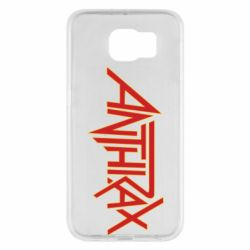Чохол для Samsung S6 Anthrax red logo