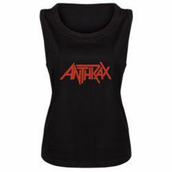 Майка жіноча Anthrax red logo
