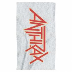 Полотенце Anthrax red logo