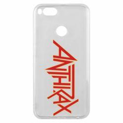 Чехол для Xiaomi Mi A1 Anthrax red logo