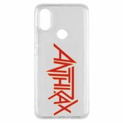 Чехол для Xiaomi Mi A2 Anthrax red logo