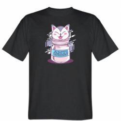 Мужская футболка AntiDepressant Cat