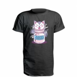 Удлиненная футболка AntiDepressant Cat