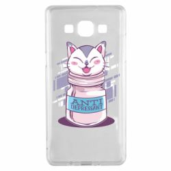 Чехол для Samsung A5 2015 AntiDepressant Cat