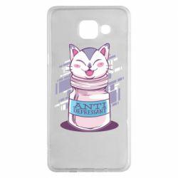 Чехол для Samsung A5 2016 AntiDepressant Cat
