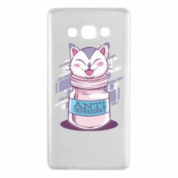 Чехол для Samsung A7 2015 AntiDepressant Cat