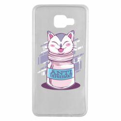 Чехол для Samsung A7 2016 AntiDepressant Cat