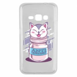 Чехол для Samsung J1 2016 AntiDepressant Cat