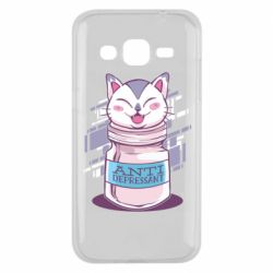 Чехол для Samsung J2 2015 AntiDepressant Cat