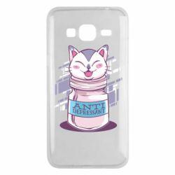 Чехол для Samsung J3 2016 AntiDepressant Cat
