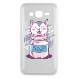 Чехол для Samsung J5 2015 AntiDepressant Cat