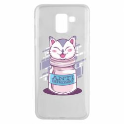 Чехол для Samsung J6 AntiDepressant Cat