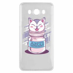 Чехол для Samsung J7 2016 AntiDepressant Cat