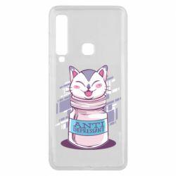 Чехол для Samsung A9 2018 AntiDepressant Cat