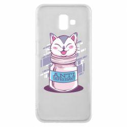 Чехол для Samsung J6 Plus 2018 AntiDepressant Cat
