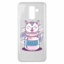 Чехол для Samsung J8 2018 AntiDepressant Cat