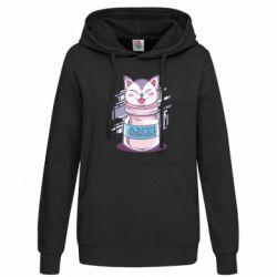 Женская толстовка AntiDepressant Cat