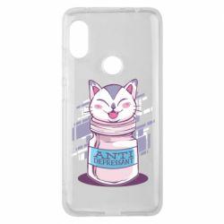 Чехол для Xiaomi Redmi Note 6 Pro AntiDepressant Cat
