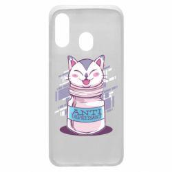 Чехол для Samsung A40 AntiDepressant Cat