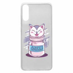 Чехол для Samsung A70 AntiDepressant Cat
