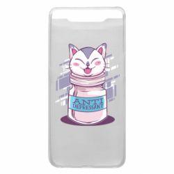 Чехол для Samsung A80 AntiDepressant Cat