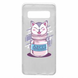 Чехол для Samsung S10 AntiDepressant Cat