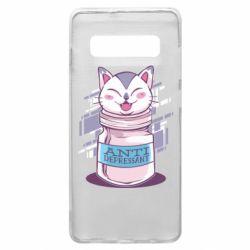 Чехол для Samsung S10+ AntiDepressant Cat