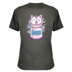 Камуфляжная футболка AntiDepressant Cat