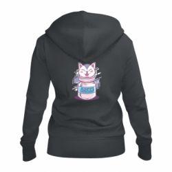 Женская толстовка на молнии AntiDepressant Cat