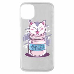 Чехол для iPhone 11 Pro AntiDepressant Cat