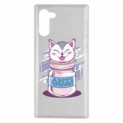 Чехол для Samsung Note 10 AntiDepressant Cat