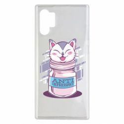 Чехол для Samsung Note 10 Plus AntiDepressant Cat