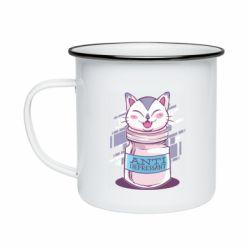 Кружка эмалированная AntiDepressant Cat