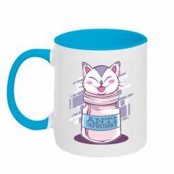 Кружка двухцветная 320ml AntiDepressant Cat