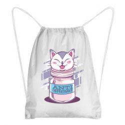 Рюкзак-мешок AntiDepressant Cat