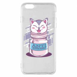 Чехол для iPhone 6 Plus/6S Plus AntiDepressant Cat
