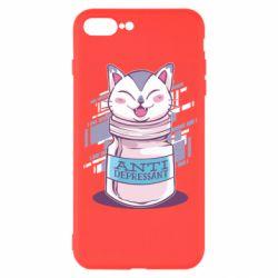 Чехол для iPhone 7 Plus AntiDepressant Cat