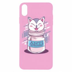 Чехол для iPhone X/Xs AntiDepressant Cat