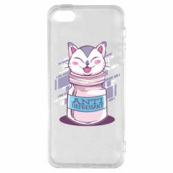 Чехол для iPhone5/5S/SE AntiDepressant Cat