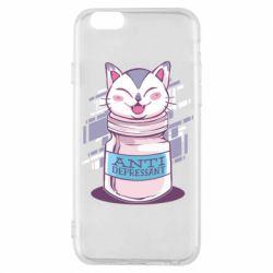 Чехол для iPhone 6/6S AntiDepressant Cat
