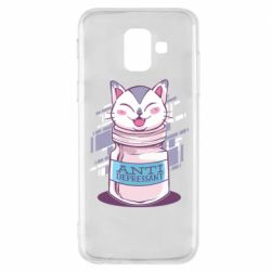 Чехол для Samsung A6 2018 AntiDepressant Cat