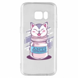 Чехол для Samsung S7 AntiDepressant Cat