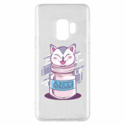Чехол для Samsung S9 AntiDepressant Cat