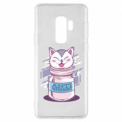 Чехол для Samsung S9+ AntiDepressant Cat