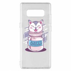 Чехол для Samsung Note 8 AntiDepressant Cat