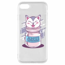 Чехол для iPhone 8 AntiDepressant Cat