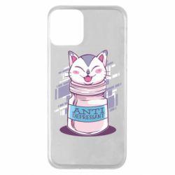 Чехол для iPhone 11 AntiDepressant Cat