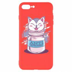 Чехол для iPhone 8 Plus AntiDepressant Cat