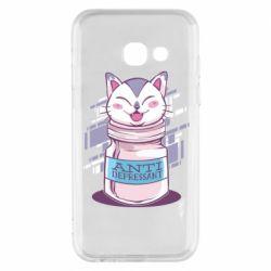 Чехол для Samsung A3 2017 AntiDepressant Cat
