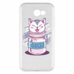 Чехол для Samsung A7 2017 AntiDepressant Cat